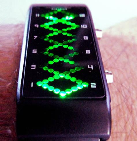 Đồng hồ sci-fi xanh lét
