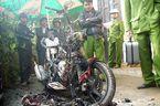 Cháy xe máy, 200 triệu trong cốp thành tro
