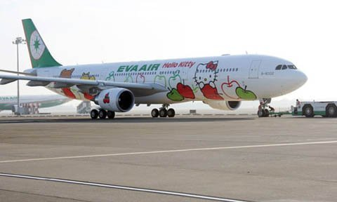 máy bay Eva Air: