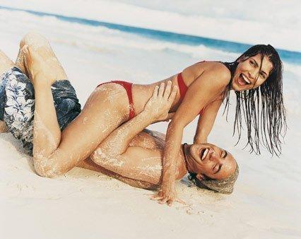 Yêu trên bãi biển