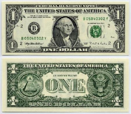 Giống như những tờ bạc khác, tờ 1 USD được làm từ một hỗn hợp vải lanh và  cotton. Đây là lý do tại sao chúng không bị rách khi dính nước ...