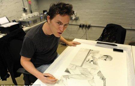 James Mylne rất tỉ mỉ trong từng nét vẽ của mình