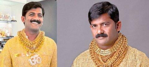 Triệu phú Ấn Độ khoe áo bằng vàng ròng (2)