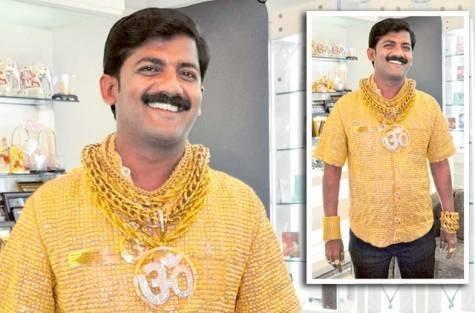 Triệu phú Ấn Độ khoe áo bằng vàng ròng (3)