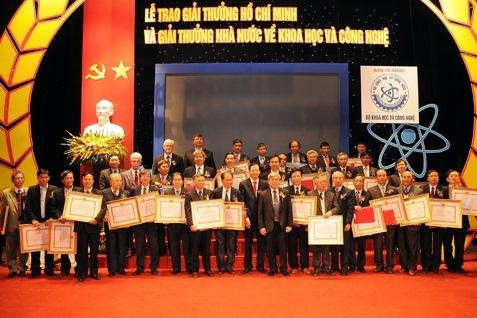 giải thưởng, Hồ Chí Minh, Khoa học công nghệ, tiền thưởng