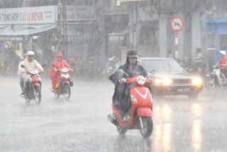 Cảnh báo mưa dông ở Hà Nội