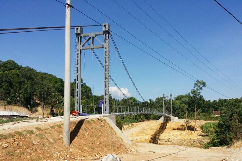 cầu treo, xã Sơn Thọ, phục vụ, 2 hộ dân, Vũ Quang