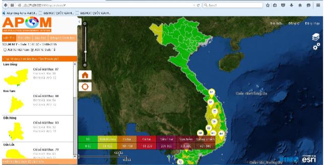 Phát triển công cụ cảnh báo ô nhiễm không khí bằng ảnh vệ tinh
