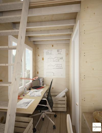 Ngôi nhà gỗ siêu nhỏ nhưng cực đẹp và tiện nghi cho người độc thân