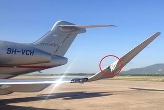 Đà Nẵng: Xe chở hành lý đâm rách cánh máy bay