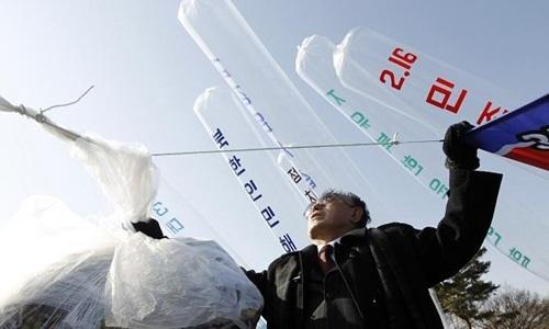 Triều Tiên, Hàn Quốc, rải truyền đơn, khiêu khích, giới tuyến, khu phi quân sự, thế giới 24h