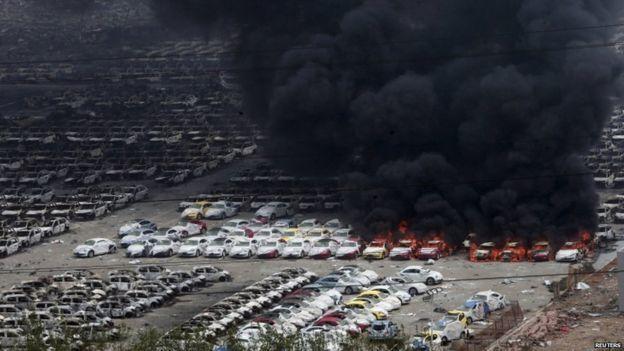 Thế giới 24, Thiên Tân, nổ, cháy