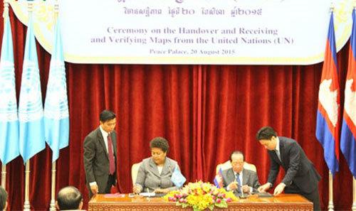 Campuchia chứng thực bản đồ phân định biên giới với VN