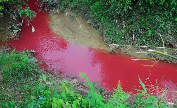Sự thật dòng suối nhuốm màu đỏ như 'máu' ở Điện Biên
