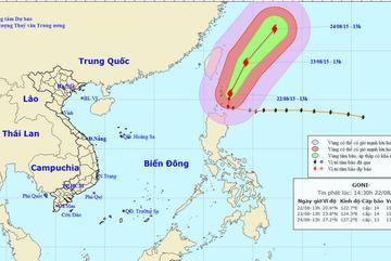 Siêu bão Goni không còn khả năng đi vào biển Đông