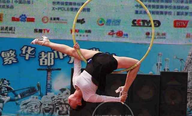 múa cột, Trung Quốc