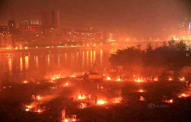Ô nhiễm nặng vì đốt vàng mã