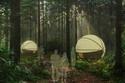 Độc đáo 'nhà nghỉ' treo lơ lửng giữa rừng