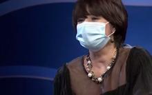 MC Diễm Quỳnh đeo khẩu trang sau khi 'đại phẫu thẩm mỹ'