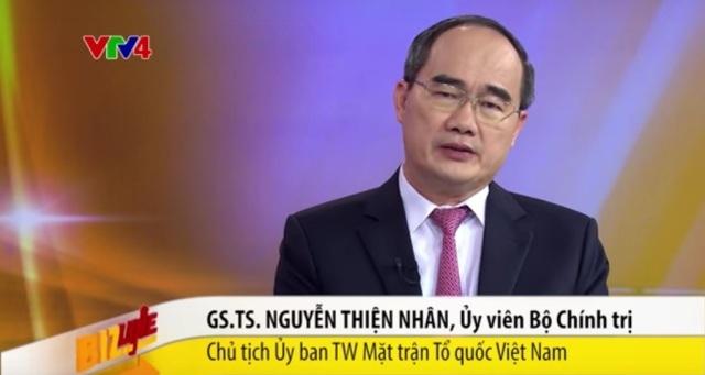 Ông Nguyễn Thiện Nhân phân tích kinh tế bằng tiếng Anh