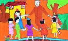 Hơn 1 vạn bài thi trẻ em vẽ tranh Hồ Chí Minh