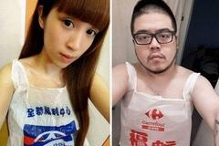 Giới trẻ Đài Loan đua nhau khoe áo tắm 'túi nilon'