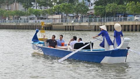 du lịch, thị nghè, kênh xanh, thuyền Sài Gòn