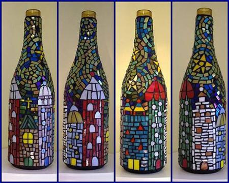 11 cách trang trí nhà độc đáo từ vỏ chai thủy tinh