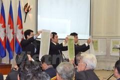 Bản đồ Campuchia dùng phân giới đồng nhất bản đồ mượn của Pháp