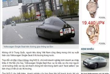 Thực hư ôtô Volkswagen 1 chỗ giá 14 triệu sắp về Việt Nam