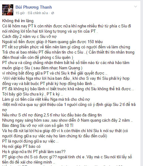 Siu Black: 'Tôi không đặt điều Phương Thanh ăn chặn tiền'