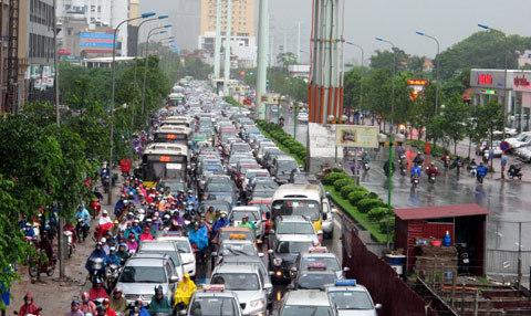 đường Hà Nội, ngập sâu, ùn tắc nghiêm trọng, mưa lớn