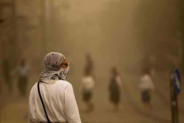Hình ảnh Trung Đông quay cuồng trong bão cát