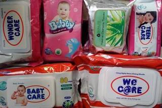 'Phù phép' 39 triệu gói khăn ướt Trung Quốc vào Việt Nam