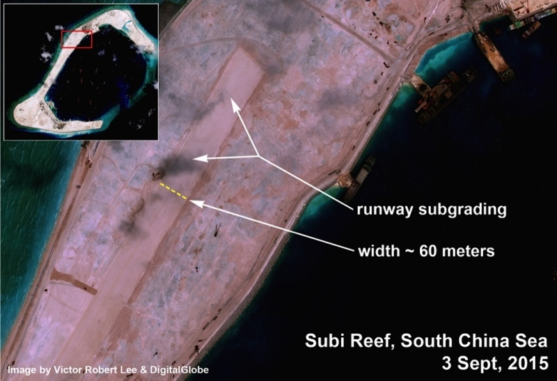 TQ xây đường băng ở đá Subi thuộc Trường Sa