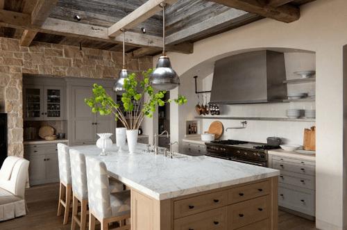 Nhà bếp đẹp hiện đại và tiện lợi hơn với đảo bếp màu trắng