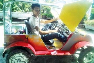 Ôtô năng lượng mặt trời tự chế xôn xao Nam Định