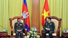 Đoàn cấp cao quốc phòng Campuchia đến VN