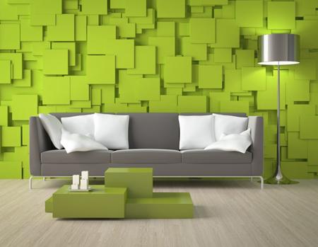 Trang trí tường phòng khách với đủ các vật liệu độc - lạ - đẹp