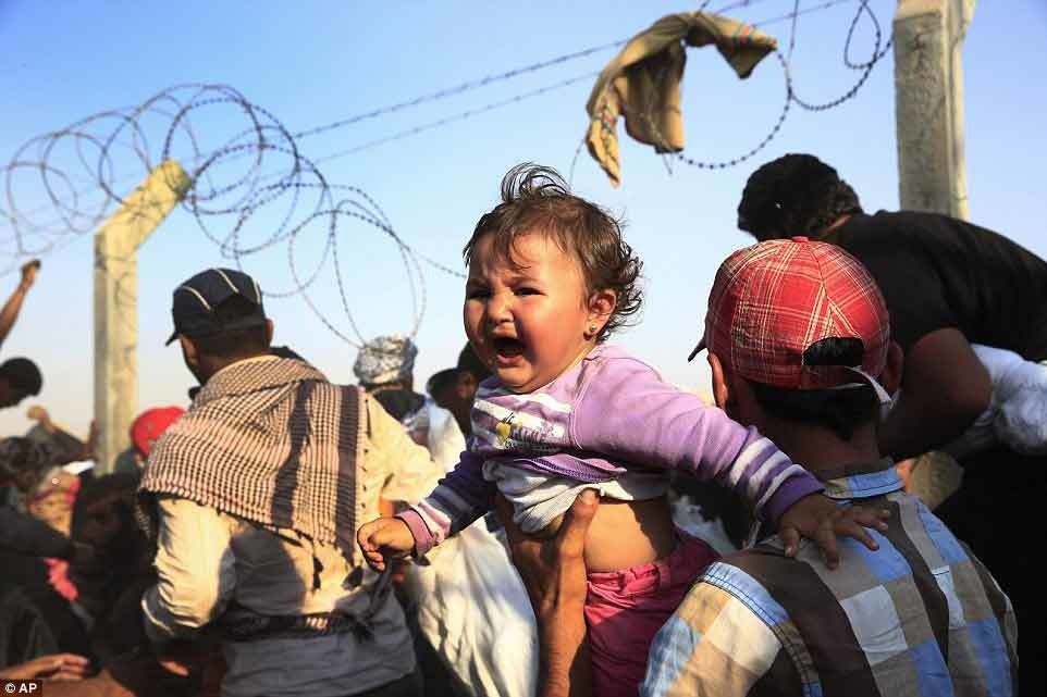 tị nạn, hàng rào, biên giới