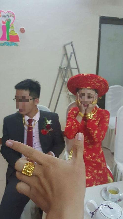 Vàng trĩu tay, nặng cổ của con nhà giàu ngày cưới