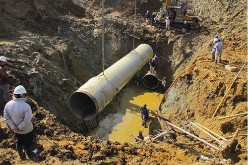 Bộ Xây dựng thẩm định xong dự toán tuyến ống Sông Đà số 2