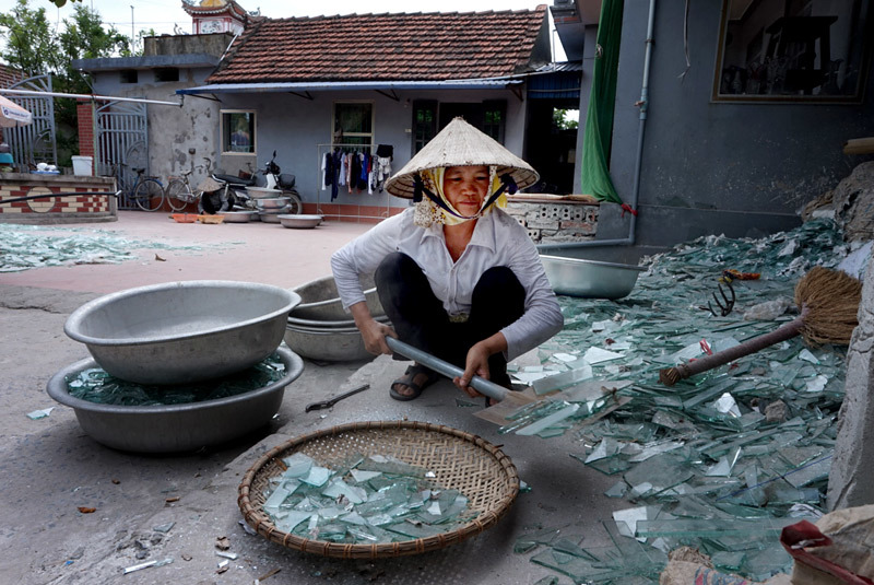 bia hơi, Hà Nội, cốc vại, thổi thủy tinh, Nam Định, làng Xối Trì