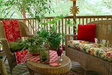 Trang trí hiên nhà rực rỡ sắc màu cho bốn mùa