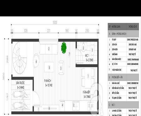 Tư vấn thiết kế cho nhà ống 38,5m² có môi trường sống thoáng mát
