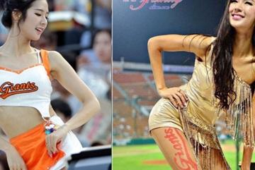 Nữ cổ động viên Hàn Quốc xinh đẹp như thiên thần, chân dài cả mét