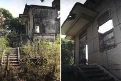 Cảnh đổ nát của biệt thự Pháp cổ ở Đông Dương