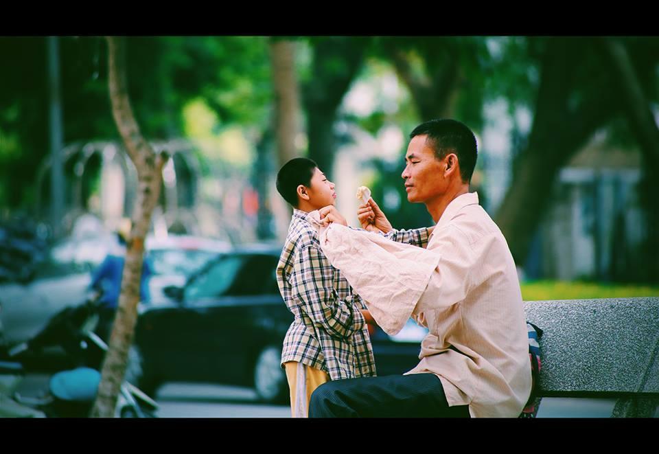 Bức ảnh lột tả hạnh phúc tột cùng của hai cha con