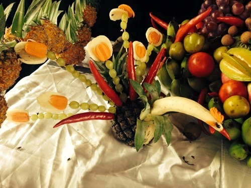 hoa quả, mâm cỗ, trung thu, trẻ em