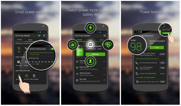 5 ứng dụng tiết kiệm pin cho smartphone Android